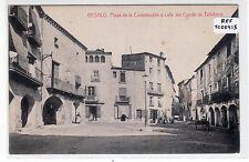 POSTAL BESALÚ. GERONA. Plaza Constitución y Calle Conde Tallaferro Ref: TC00415