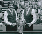 Steve DAVIS AUTOGRAPH 10x8 Signed Photo AFTAL COA SNOOKER With Cliff Thorburn