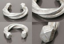 OLD ALUMINIUM PEUL FULANI MANILLA CURRENCY BRACELET FROM MALI AFRICAN JEWELLERY