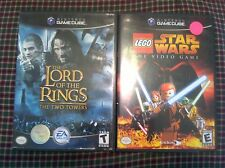 2 Gamecube games Lord of the Rings The Two Towers GC Lego Star Wars CHILDREN KID