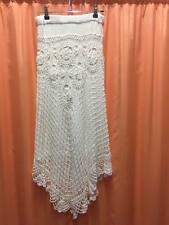 NEW LADIES CROCHET SKIRT IN WHITE  FREE SIZE