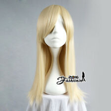 55CM Basic Long Straight Blonde Party Women Hair Cosplay Wig Heat Resistant