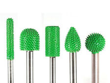 10% discount 5 PC Saburr Tooth Carbide Burrs 1/4 inch shaft Green Made in USA