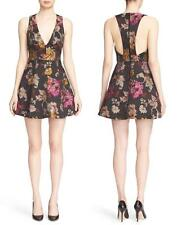 NWT Alice + Olivia Mollie V-Neck Floral Brocade Box Pleat Fit & Flare Dress 2