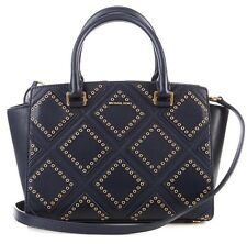 NWT Michael Kors Selma Diamond Grommet Navy Admiral Satchel/ Shoulder Bag $498