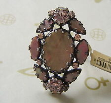 KONPLOTT Ring Dangerous Liaisons Perlmutt light rosé / antique silver