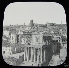Glass Magic lantern slide NORTH VIEW OF THE FORUM ROME C1890 ITALY ROMA