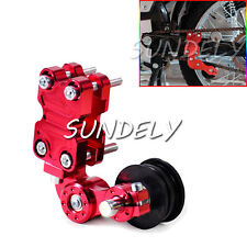CNC Chain Tensioner Adjuster with Roller for Motorcycle Motocross Enduro Red UK