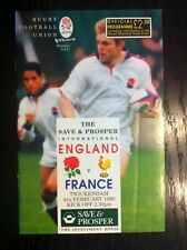 ENGLAND v FRANCE 1995 RUGBY PROGRAMME AND TICKET