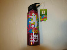 FIFA World Cup Brazil 2014 stainless steel bottle pink Cup Beverage 20 fl oz