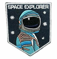 Astronaut NASA embroidered cloth iron on patch for vintage bike backpacks funny