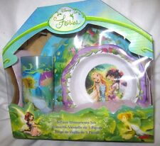 Disney Tinkerbell & Fairies Mealtime Dinnerware Set Plate,Bowl and Cup-New!