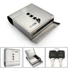 MAIL BOX LETTER BOX POST BOX COMBINATION TOP QUALITY STAINLESS STEEL&KEYS