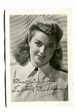 Vintage Movie Star Fan Photo w printed autograph ESTHER WILLIAMS actress  3x5