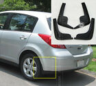 FIT FOR 2007~2011 NISSAN TIIDA HATCH MUD FLAPS SPLASH GUARDS MUDGUARDS 2010 2009