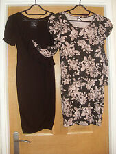 "2 dresses sz 6 ish - black one 28"" bust - multi 31"" - easywear clean zara & next"