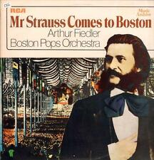 Arthur Fiedler & Boston Pops(Vinyl LP)Mr Strauss Comes To Boston-RCA-SM-VG+/Ex