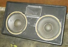 Pair, Dual Side by Side JBL K120 Floor Monitor Speakers w/ Roller Road Case Used
