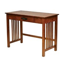 OAK Wood MISSION STYLE DESK Furniture Table Computer Writing Student Dorm Office