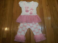 Girls Toddler Spunky Kids pink ballerina boutique outfit with tulle 2T.Sweet