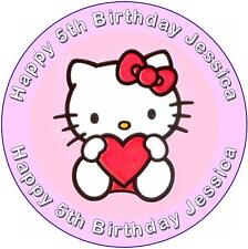 Hello Kitty Birthday Cake Topper ~ PERSONALISED FREE!!