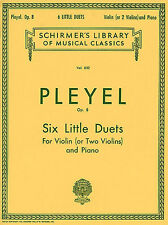 Ignaz Pleyel Six Little Duets Op.8 Learn to Play Violin Piano Music Book