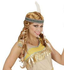 Ladies Indian Chippewa Wig Cowboys Wild West Fancy Dress Squaw