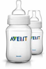 AVENT Classic+ Baby Feeding Bottles New Design, 2x 9 oz / 260 mL bottles SG-552