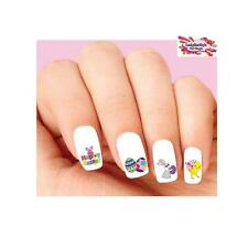 Waterslide Nail Decals Set of 20 - Happy Easter Bunny, Chick, Eggs Assorted #2