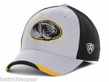 TOP OF THE WORLD NCAA GRIZZLY STRETCH FIT CAP/HAT- MISSOURI TIGERS- MIZZOU- OSFM