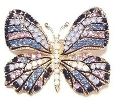BEAUTIFUL High End Vintage Estate Rhinestone BUTTERFLY Brooch PIN Jewelry LOT A