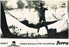 Publicité Advertising 1962 (2 pages) Les Pellicules photo Ferrania