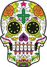Sugar Skull Vinyl Exterior Car Sticker Decals Mexican Day of the Dead  x 2