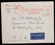 1955 Air Mail Germany to Massachusetts Used Envelope
