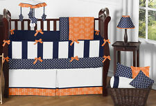 Sweet Jojo Designs Unisex Navy Orange Arrow Cheap Baby Boy Girl Crib Bedding Set