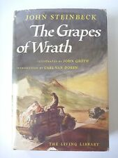 THE GRAPES OF WRATH by JOHN STEINBECK 1947 FIRST EDITION ILLUSTRATED HC/DJ RARE