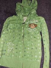 WOMEN'S JUNIORS AEROPOSTALE MONKEY GREEN HOODIE JACKET SIZE SMALL