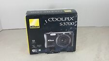 "Nikon COOLPIX S3700 Digital Camera Wi-Fi 20.1MP 8x Optical Zoom 2.7"" Camera READ"