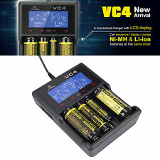 XTAR VC4 LCD USB Battery Charger Power For Li-ion Ni-MH 18650 26650 32650 2A 3A
