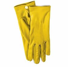 Yellow Short Colored Gloves Bumble Bee Sun Flower Fashion Halloween Costume NEW