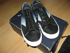 HARDLY WORN BOYS MENS AUTHENTIC ARMANI LEATHER TRAINERS SHOES SIZE 6.5 UK 39 UE