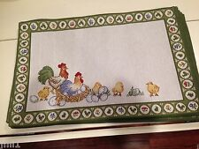 Villeroy & Boch FARMERS SPRING EASTER 2015 Placemat Rooster / Chicken