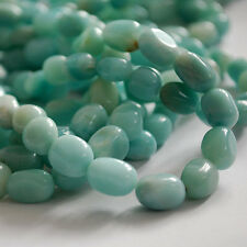 10 x  Semi Precious Gemstone Amazonite Beads Nuggets 10 x 14mm