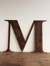 Large 40cm Letter M Rusty Rusted Metal Industrial Sign Decoration Ornament