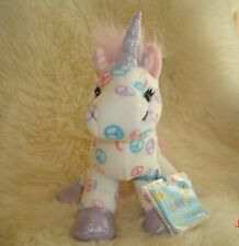 WEBKINZ FULL SIZE PEACE UNICORN + PACK OF TRADING CARDS - NEW W/ SEALED CODE-