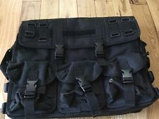 CODE ALPHA TACTICAL GEAR  BLACK TACTICAL MESSENGER LAPTOP BAG