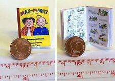 1006# Miniaturbuch - Max und Moritz modern - Puppenhaus - Puppenstube - M 1zu12