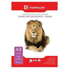 50 x A4 230GSM Premium Double Sided Gloss Matte Photo Inkjet Paper by Mirror