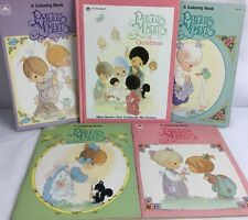 Precious Moments Book Vintage 1990 Golden Book Coloring Stories Lot Of 5!! Great