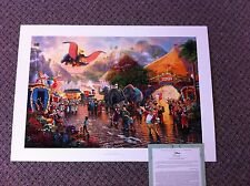 "Thomas Kinkade "" Dumbo "" Signed & Numbered Disney Paper Lithograph"
